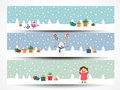 Web header or banner set for Merry Christmas. Royalty Free Stock Photo