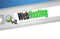 Web hosting browser illustration design artwork background Stock Photos