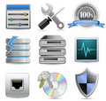 Web Hosting Icons Stock Image