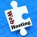 Web Hosting Shows Website Domain Royalty Free Stock Images