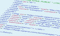 Web HTML code background Stock Photo