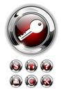 Web icon, button set. Royalty Free Stock Photo