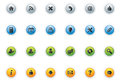 Web icon buttons circle vector icons on colourful Stock Image