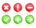 Web icon buttons of validation Royalty Free Stock Image