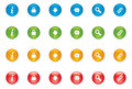 Web icon buttons vector x different colors including information lock download message search and link Stock Image