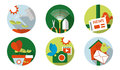 Web icon cultivating flat icons set Royalty Free Stock Images
