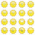 Web icon set 1  (16 star butto Royalty Free Stock Photo