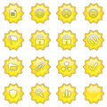 Web icon set 2  (16 star butto Royalty Free Stock Photo