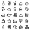 Web icon set 4 (easily editable) Royalty Free Stock Photography