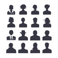 Web icon set avatars of people Royalty Free Stock Image