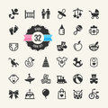 Web icon set. Baby Royalty Free Stock Photo