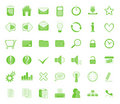 Web icon set green Stock Photos