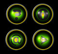 Web icon set - green Royalty Free Stock Photo