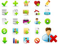 Web icon set i have created vector file on related icons Stock Image