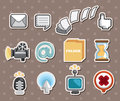 Web icon stickers Stock Photo