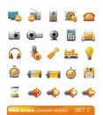 Web Icons – Orange series. Set 3 Stock Photos
