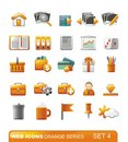 Web Icons – Orange series. Set 4 Royalty Free Stock Photos