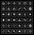 Web icons. Stock Photo