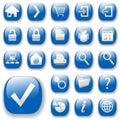 Webové ikony modrý