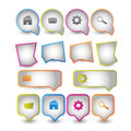 Web icons boxes Royalty Free Stock Photo