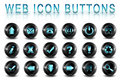 Web icons buttons Royalty Free Stock Photography