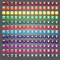 Web icons buttons collection a of standard icon in many different colors for related uses Royalty Free Stock Photos