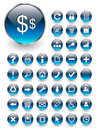 Web icons, buttons set Royalty Free Stock Image