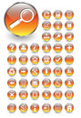Web icons, buttons vector set Royalty Free Stock Photography