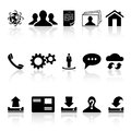 Web icons collection of black on white background illustration Royalty Free Stock Photos