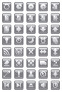 Web icons collection for design Stock Photography