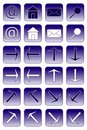 Web icons: dark blue 1 Royalty Free Stock Image