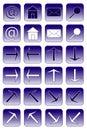Web icons: dark blue 1 Royalty Free Stock Image