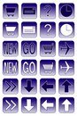 Web icons: dark blue 2 Stock Photos