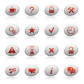 Web icons on ellipse buttons 2 Royalty Free Stock Photography
