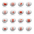 Web icons on ellipse buttons 3 Royalty Free Stock Images