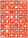 Web icons for eshop flat design white on red background illustration Stock Image