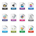Web Icons - File Types 2 Stock Photos