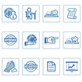 Web icons : global business and office Stock Images