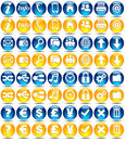 Web icons - glossy series Stock Photo