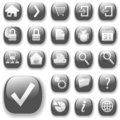 Web Icons Gray_DropShadows Royalty Free Stock Images