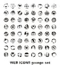 Web icons. grounge set Stock Photos