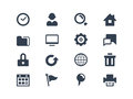 Web icons and internet set Stock Photography