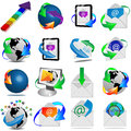 Web icons mega collection of colored buttons and for designers to different necessities on a white background Royalty Free Stock Photos