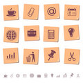 Web icons on memo notes 2 Royalty Free Stock Photos