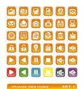 Web icons. orange. set 1 Royalty Free Stock Photos