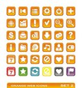 Web icons. orange. set 2 Royalty Free Stock Photo