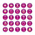 Web Icons,purple, DropShadows Royalty Free Stock Photo
