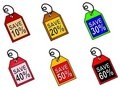 Web Icons Saving Money Tags Royalty Free Stock Image