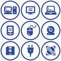 Web icons set – Hardware (Vector) Stock Image