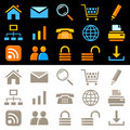 Web icons set Stock Photo